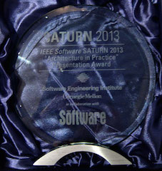 The 'Architecture in Practice' award from SATURN 2013